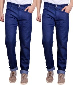 Masterly Weft Awesome Pack Of 2 Mens Cotton Jeans - (code - D-jen-3-3)