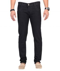Masterly Weft Trendy Black Jeans For Men