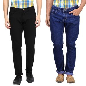 Jeans (Men's) - Masterly Weft Be Trendy Men's Jeans Pack Of 2