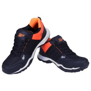 Sport Shoes (Men's) - Firemark Sports Black Mesh Running Shoes ( Code - Firemark_Superfit_011 )