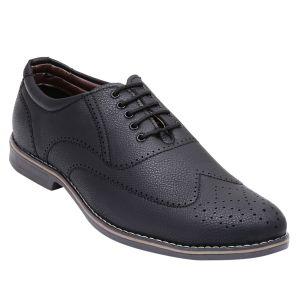 Formal shoes - Firemark Black Formal Shoes For Men (FR-3103-Blk)