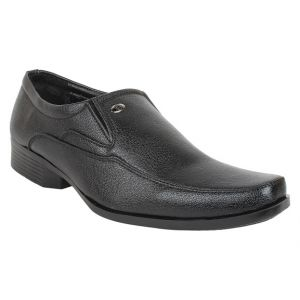 Firemark Mens Artificial Leather Black Slip On Formal Shoes - (product Code - Frical-041blk)
