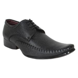 Firemark Mens Artificial Leather Black Slip On Formal Shoes - (product Code - Frical-1801blk)