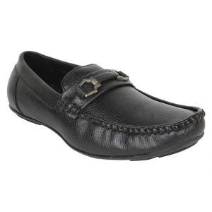 Firemark Mens Artificial Leather Black Slip On Loafers - (product Code - Frical-2122blk)