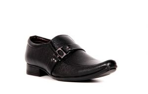 Monk Shoes (Men's) - Firemark Mens Artificial Leather Black Slip on Monk Shoes - (Product Code - FRICAL-2504BLK)