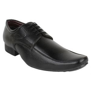 Firemark Mens Artificial Leather Black Laced On Formal Shoes - (product Code - Frical-1703 -fr-blk)
