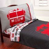 Carters 4 Piece Toddler Bed Set, Fire Truck