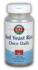 One Daily Red Yeast Rice 1200mg Kal 30 Tabs