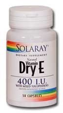 Dry Vitamin E-400 Iu Solaray 100 Caps