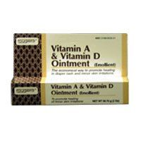 Baby Creams, Lotions, Oils - Vitamin A & Vitamin D Ointment Tube For Diaper Rash - 2 Oz / Pack, 3 Packs