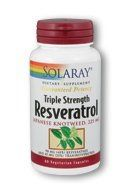 Triple Strength Resveratrol 225 Mg Solaray 60 Vcaps