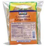 Now Foods Crystallized Ginger Slices - No Sulfur - 12 Oz