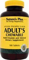 "Nature""s Plus Adult""s Multi-vitamin Chewable - Pineapple Flavor- 180 Chewable Tablets"