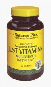 "Just Vitamins Time Release Nature""s Plus 60 Sustained Release Tablet"