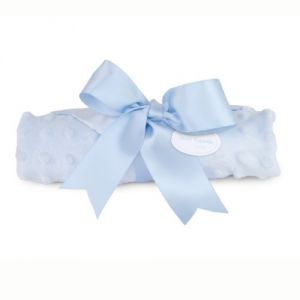 Mud Pie Baby Embossed Plush Woobie, Blue