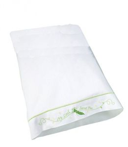 Lillian Rose Cotton Pillow Case, Sweet Pea, 12 Inches X 16