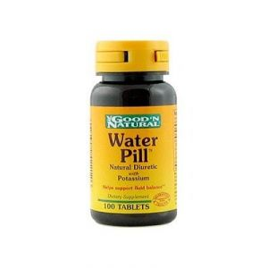 "Water Pill Natural Diuretic With Potassium Good ""n Natural 100 Tabs"