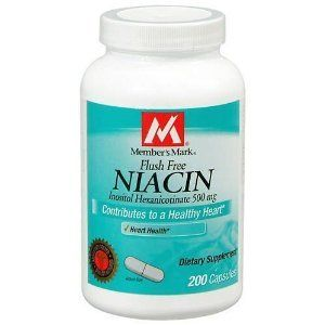 "Member""s Mark Niacin 500mg Vitamin B-3 Flush Free, Capsules, 200-count"