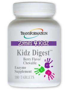 Transformation Enzymes Kidz Digest Chewable 180 Tablets Berry Flavor