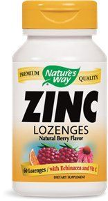 "Zinc/echinacea&vitamin C Lozenges-berry Flavor Nature""s Way 60 Lozenge"