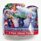 Marvel Avengers - Thor, Hulk & Captain America - 3 Pack Deluxe 4 Inches Figure Pack