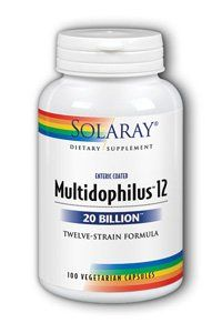 Solaray - Multidophilus 12 20 Billion Twelve-strain Formula - 100 Vegetarian Capsules