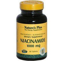"Niacinamide 1,000mg Time Release Nature""s Plus 90 Sustained Release Tablet"