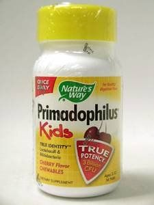 "Nature""s Way - Primadophilus For Kids/cherry, 68 Mg, 30 Chewable Tablets"