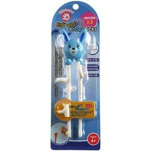 Edison Training Chopsticks For Right Handed Children Blue Rabbit