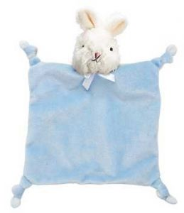 First Friends Flatsie Blanket Pacifier PAL - Blue Bunny