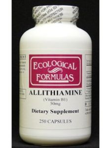 Ecological Formulas Allithiamine (vitamin B1) 50 Mg 250 Caps