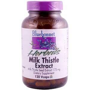 Milk Thistle Extract 120 Veg Capsules By Bluebonnet 120 Vcaps
