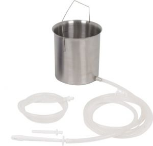 Purenema Stainless Steel Enema Kit With Medical-grade Silicone Tubing & Silicone Enema Tips | Includes Enema Instructional Booklet