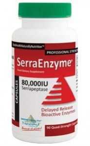 Serra Enzyme 80,000iu Serrapeptase (90 Quad-strenght Capsules) **delayed Release Bioactive Enzymes***