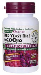 Herbal Actives Red Yeast Rice 600 Mg/coq10 100 Mg Extended Release Tablets Natur