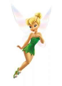 Roommates Rmk1494gm Tinker Bell Giant Wall Decal With Glitter Wings