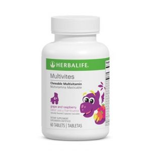 Herbalife Multivites - Fruit Flavored Chewable Multivitamin - Raspberry Grape Flavor - 60 Tablets