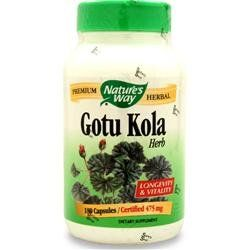 "Nature""s Way Gotu Kola Herb, 180 Capsules (pack Of 2)"