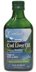 Carlson Norwegian Cod Liver Oil Natural, 250ml