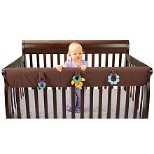 Leachco Easy Teether Xl - Crib Rail Cover For Convertible Cribs - Chocolate