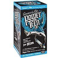 "Nature""s Plus Power Teen For Him Multi - 60 - Chewable"
