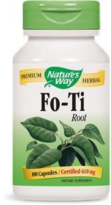 "Nature""s Way Fo-ti Root, 100 Capsules, 610mg (pack Of 2)"