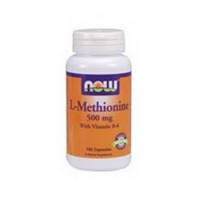Now Foods L-methionine, 100 Capsules / 500mg (pack Of 2)