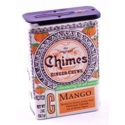Chimes All Natural Mango Ginger Chews - 2 Oz Tin