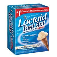 Johnson And Johnson Lactaid Fast Act Lactase Enzyme Supplement Chewable Tablets - 60 Ea