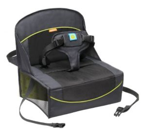 Brica Fold N Go Travel Booster Seat, Gray-black-green