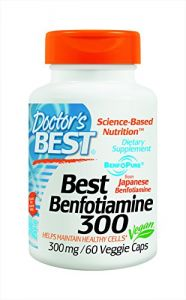 "Doctor""s Best Benfotiamine 300 Mg Vegetarian Capsules, 60 Count"