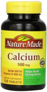 Nature Made Calcium 500 Mg And Vitamin D Tablets, Tablets, 130-count