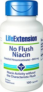Life Extension No Flush Niacin 800 Mg , 100 Capsules