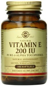 Solgar Vitamin E 200 Iu Alpha Softgels, 100 Count